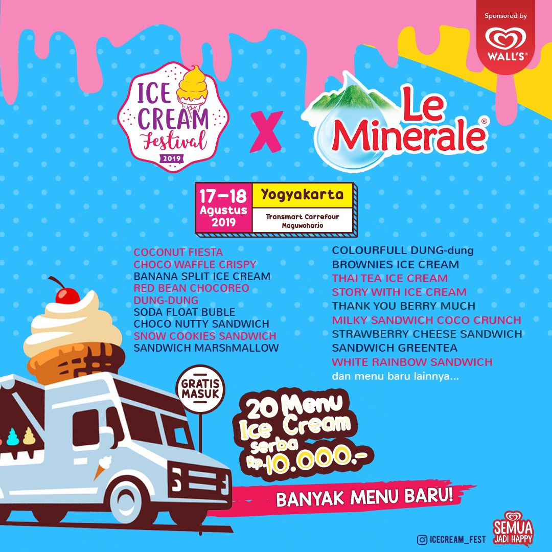 Ice cream Festival 2019 Yogyakarta - Menu Ice Cream Serba 10.000