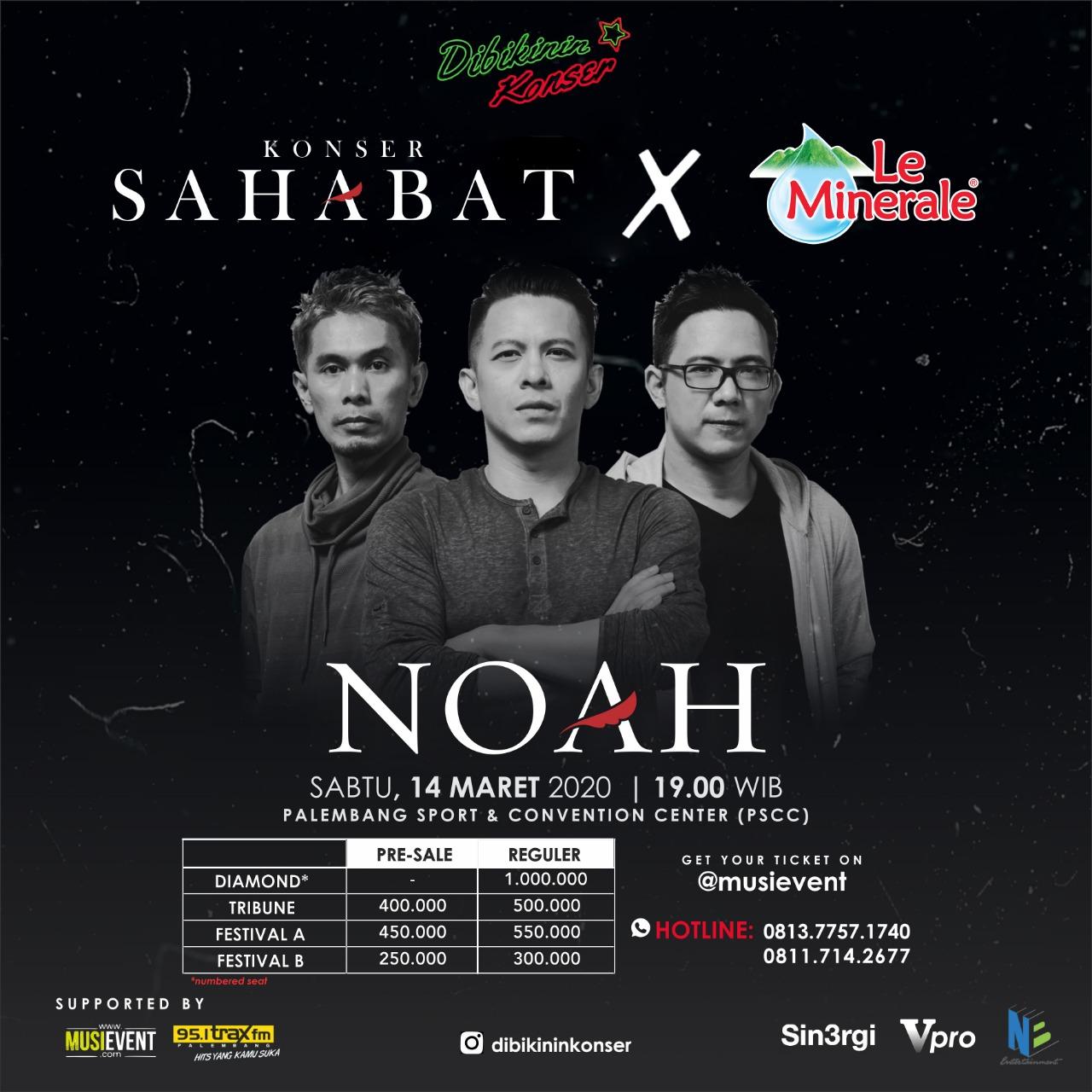 Konser Sahabat x Le Minerale, Palembang 2020